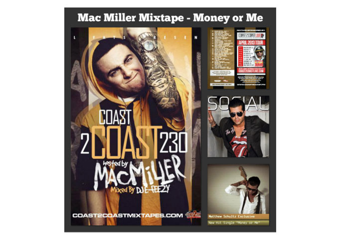 """Matthew Schultz – Does It Again, """"Money or Me"""" Selected For New Exclusive Mac Miller Mix Tape Vol 230!"""