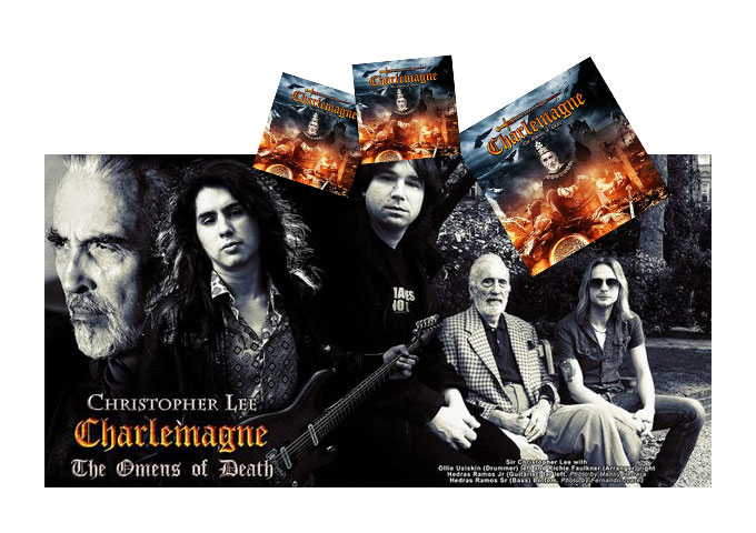 """Christopher Lee: """"Charlemagne; The Omens of Death"""" Movie Legend To Metal Star!"""