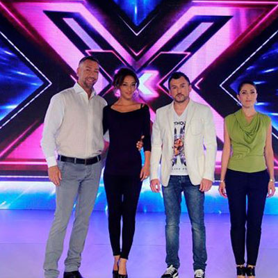 Lubo Kirov - X-Factor Judge (second from right)