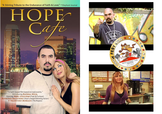Meet Celebrity & Actor Noel Gugliemi and Filmmaker Radhaa Nilia at the screening of Hope Cafe Oct. 24th at 8pm in Garden Grove, CA