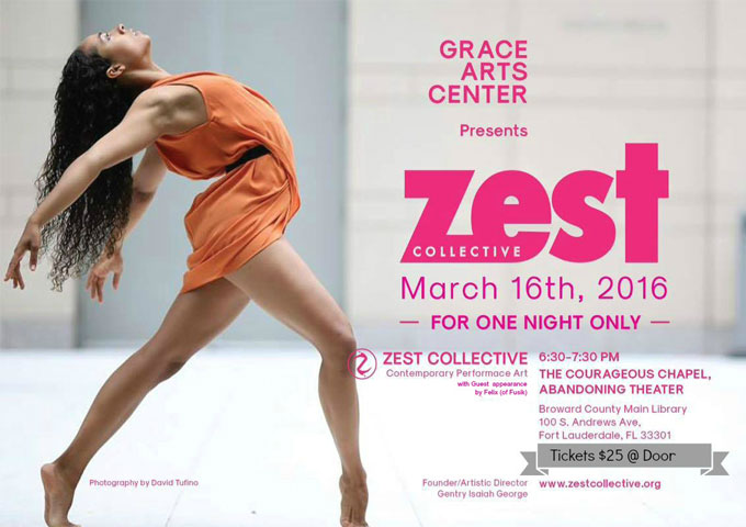 Grace Arts Center Presents The Zest Collective March 16, 2016 in Fort Lauderdale, Florida