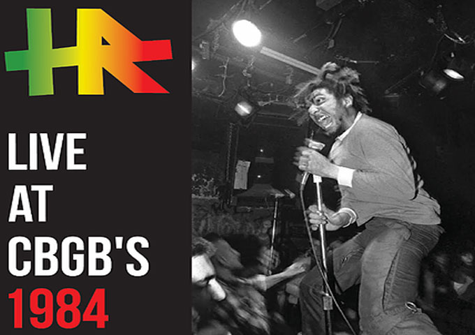 HR Live At CBGB's 1984 – an essential part of alternative music and punk culture