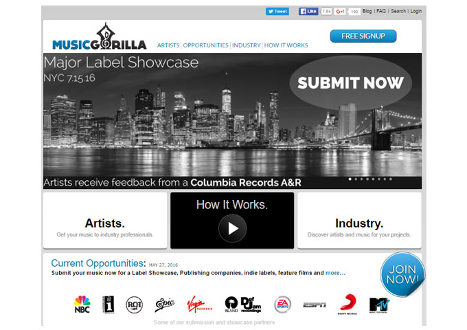 Music Gorilla Introduces A Major Label Showcase for Columbia Records A&R