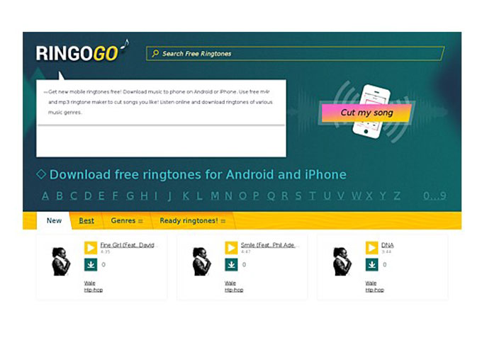 How to cut songs and make ringtones out of them online for free?